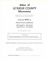 Title Page, Le Sueur County 1973
